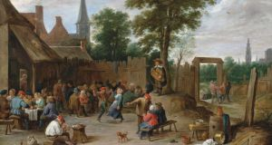 "'One of the best of the Beit paintings to be sold at Christie's is David Teniers's depiction of a Flemish country dance, the Kermesse (detail, above). As a work of art, it is delightfully anarchic, with groups of people dancing, shouting, pointing and reeling with intoxication. As a depiction for the dance around the notion of the ""public trust"" in this whole affair, it is all too symbolic.'"