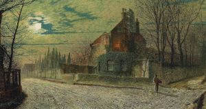 A painting by John Atkinson Grimshaw (1836-1893) of Yew Court, Scalby, on a November night, is the first of two works from the Beit collection at Russborough House to be auctioned this week at Christie's in London.