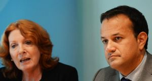 Minister for Health Leo Varadkar and Minister for Primary and Social Care  Kathleen Lynch pictured in 2014. File photograph: Cyril Byrne/The Irish Times.