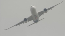 Paris Air Show: Airbus A350 XWB performs near vertical take off
