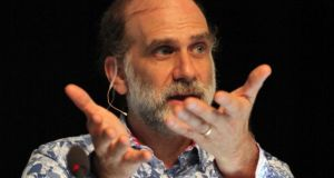 "Bruce Schneier: ""We're all open books to both governments and corporations; their ability to peer into our collective personal lives is greater than it has ever been before"""