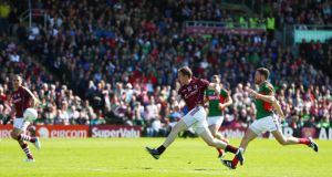 Mayo's defensive shortcomings were exposed by the manner of Gary Sice's goal for Galway on Sunday at Pearse Stadium. Photograph: Cathal Noonan/Inpho