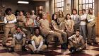 Orange Is the New Black: Danielle Brooks, Samira Wiley, Lea DeLaria, Laverne Cox, Lori Petty, Taryn Manning, Uzo Aduba, Taylor Schilling, Laura Prepon, Natasha Lyonne, Yael Stone, Ruby Rose, Kate Mulgrew, Selenis Leyva and Dascha Polanco in the third season of the Netflix hit