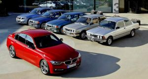 1975 E21 (far right) gave birth to 3 Series name but 1982's E30 (second right) created its birthright.