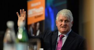 Denis O'Brien: will argue that permitting utterance about his banking arrangements to be made amounts to breach of his rights under the Constitution and European Convention on Human Rights.  Photograph: Dara Mac Donaill/The Irish Times