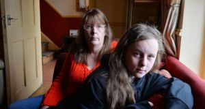Michelle McFarland and her daughter Ashleigh. She is one of about 4,000 lone parents who stand to lose out under welfare changes. Photograph: Alan Betson/The Irish Times