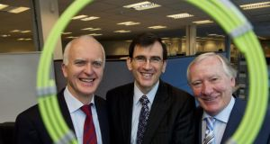Justin Lynch, partner, Fountain Healthcare Partners, Eamon Brady, CEO, Neuravi and John O'Shaughnessy, chairman, Neuravi