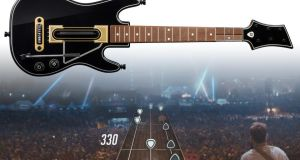 Guitar Hero, a game that puts you on stage with the band, in front of a real crowd,  close enough to see their reactions – and they aren't shy about sharing it with you