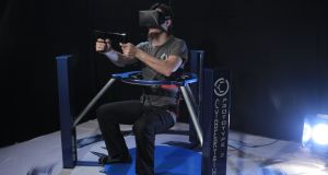 Cyberith's Virtualizer: the device can read sitting and crouching movements, as well as walking and running