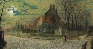 Yew Court, Scalby, on a November night, by John Atkinson Grimshaw (1836-1893), one of the paintings from the Beit collection at Russborough House that was auctioned at Christies's in London earlier this week.