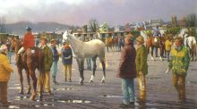 'Horse Fair at Goresbridge' by Peter Curling was sold for €31,000 de Veres art auction at Buswell's Hotel