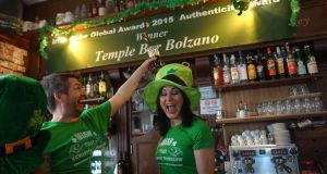 Stephen Tierney and Tanya Cregan in the Irish pub they opened in South Tyrol