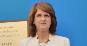 Tánaiste and Minister for Social Protection Joan Burton has defended her decision to proceed with social welfare reforms as essential to helping lone parents get out of the poverty trap. Photograph: Alan Betson / The Irish Times.