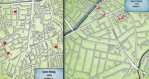 Map Of Ireland 1916.1916 Rising Dublin 4 And 6 Street Maps