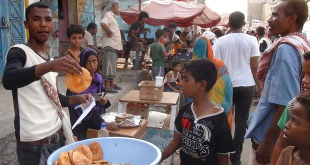 Yemenis Shop At A Market In The Embattled Southern City Of Aden Yesterday Photograph