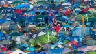 'Nothing is good about sleeping in a tent, or spending any time whatsoever in a tent.' Glastonbury 2014. Photograph: Ian Gavan/Getty Images
