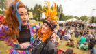 Zoe Readmond and Claire Lynch from Dublin enjoying the Body & Soul festival in Co Westmeath.  Photograph: Allen Kiely.
