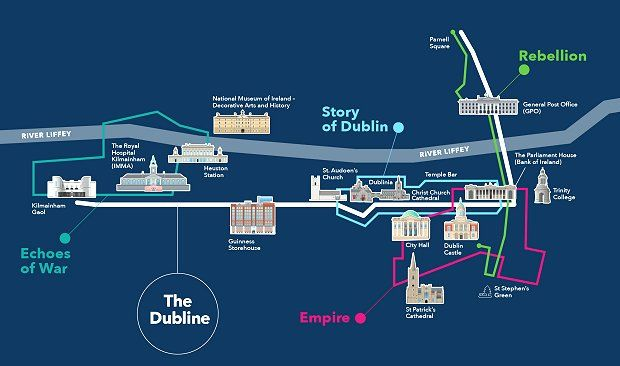 Map Of Ireland 1916.Trail Of 1916 Easter Rising Sites Launched To Boost Tourism