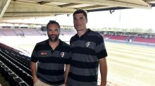 New Toulouse coach Ugo Mola and new sporting director  Ugo Mola. Photo:  Pascal Pavani/AFP/Getty Images