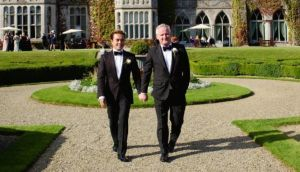 Unconditional love: I met Richard 15 years ago, and we've been together for 10. We became civil partners, at Adare Manor in Ireland, two years ago, which has been very important to us, but marriage means so much more