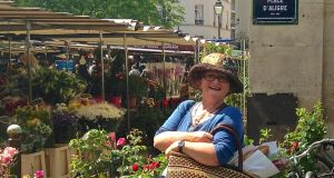 Jean O'Sullivan at the marché d'Aligre in Paris. France celebrates Bastille Day today.