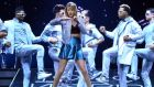 Taylor Swift performs live on stage. Photograph: Sascha Steinbach/Getty Images