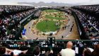 A  view from the 16th hole during the  Phoenix Open at TPC Scottsdale in  Arizona. Clubstohire.com will offer services to tourist visiting the course. (Photograph:  Patrick Smith/Getty Images)