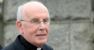 Cardinal Sean Brady, who retired last year, arrives at Banbridge Court on Thursday to give evidence in The Historical Institutional Abuse Inquiry. Photograph: Colm Lenaghan/Pacemaker