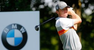 Michael Hoey shot a brilliant seven under par 65 in his second round at the BMW International in Munich. Photograph: Getty