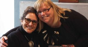 Director Megan Johnston, on right, with artist Anne Labovitz at the Bureau of Radical Accessability in the Model