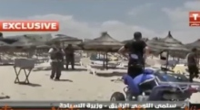 Tunisia: scene from beach attack