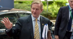 Taoiseach  Enda Kenny arrives at the EU Council headquarters at the start of a European Union leaders summit in Brussels, June 26th. Photograph: Reuters/Eric Vidal