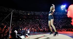 Taylor Swift performs  in Cologne, Germany, earlier this month. Photograph Sascha Schuermann/Getty Images for TAS