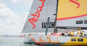 Abu Dhabi Ocean Racing claimed the in-port title to complete the Volvo Ocean Race double having taken the off-shore trophy on Monday. Photo: Jonathan Nackstrand/AFP/Getty Images