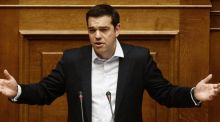 Greece's prime minister Alexis Tsipras: mounting concerns about the country resulted in US and European stocks falling. Photograph: Kostas Tsironis/Bloomberg