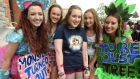Maeve Bradley, Laura Cody, Stephanie Lonergan, Kelly Murphy and Kinga Jakubiec before the Taylor Swift concert at the 3Arena. Photograph: Cyril Byrne
