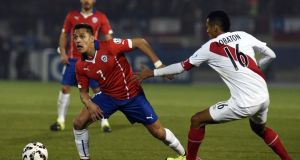 Alexis Sanchez has not been in his best form for Chile at the Copa América. Photograph: JUAN BARRETO/AFP/Getty Images