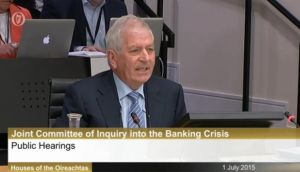 Former minister for Finance Charlie McCreevy giving evidence at the banking inquiry on Wednesday.