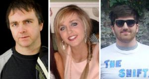 Barry Ryan Snr and Niamh O'Connor, who drowned off the Cork coast, and Barry Davis Ryan, who is still missing.