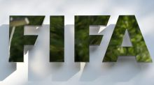 A file photo  showing the Fifa logo at the Fifa headquarters in Zurich. Photograph: EPA