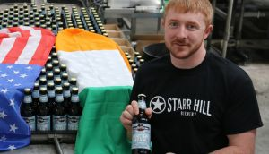 Conor Donoughue of Carlow Brewing with O'Hara's Foreign Affair Red
