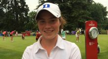 Leona Maguire carded a three-under 69 in the first round of the ISPS HANDA Ladies European Masters at The Buckinghamshire Golf Club. Photograph: LET