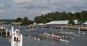 Henley Royal Regatta: Portora Royal School were beaten by one of the best American schoolboy crews, Gonzaga College. Photograph:  Dan Kitwood/Getty Images