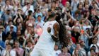 Dustin Brown stunned Centre Court as he beat Rafael Nadal in four sets in the second round at Wimbledon. Photograph: Reuters