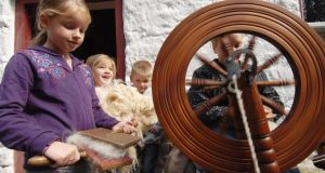 Learning to spin at the Ulster American Folk Park