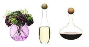 LSA Polka Vase Rose Pink €82.40 houseology.com Oval Oak Decanter €30 designist Oval Oak Decanter €35 designist