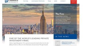 The website of Cerberus Capital Management, which states the private equity firm has some $25 billion (€22.5 billion) in assets under management.