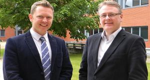 Dublin-based tech start-up Vidiro co-founders Simon Factor and Kevin Magee