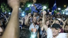 Celebrations in Athens as Greece votes 'No'