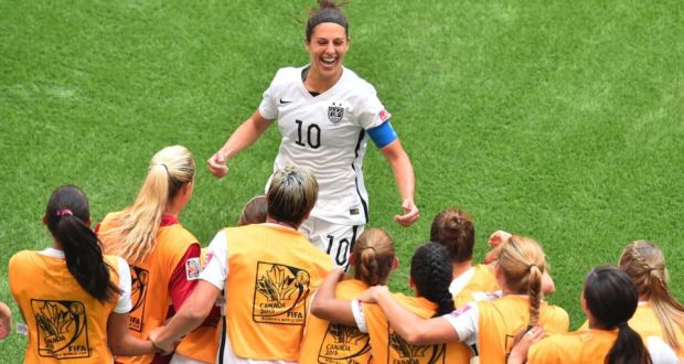 0ec97071bd0 Carli Lloyd scored a hat-trick inside 16 minutes as the USA thrashed Japan 5